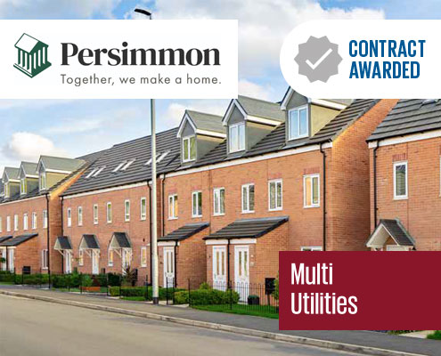 contract, awarded, persimmon, homes, doocey, group, multi, utilities